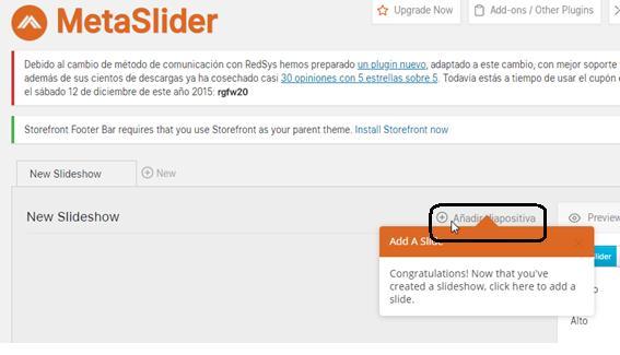 Añadir las imágenes al Slideshow